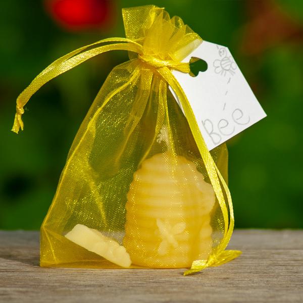 Bijenwaskaarsen Bijenkorfje BEE zakje